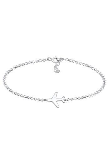 Elli Armband Damen Erbskette Flugzeug Travel Reise Basic in 925 Sterling Silber