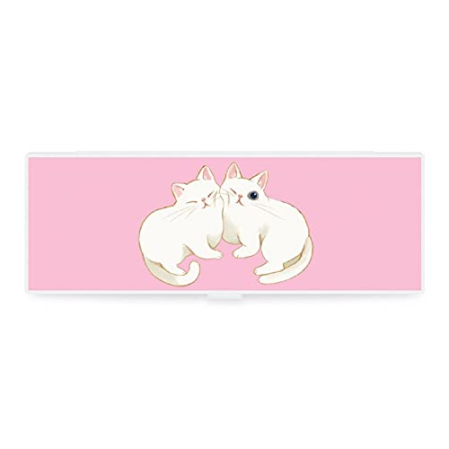 Estuche de lápices transparente pequeño y grande con diseño de animales divertidos y divertidos animales elfos gato pintura caja de colección para oficina woker hombres mujeres unisex