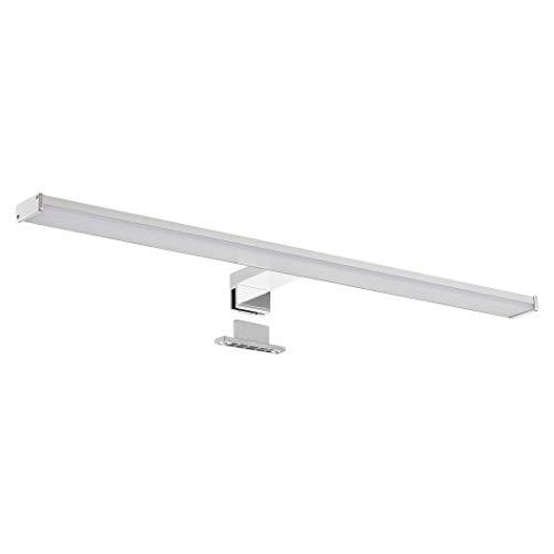 SEBSON® LED Spiegelleuchte 60cm, Bad IP44, Aufbauleuchte + Klemmleuchte, neutralweiß 4000K, 600x108x40mm, 12W, 900lm, Aluminium, Schminklicht