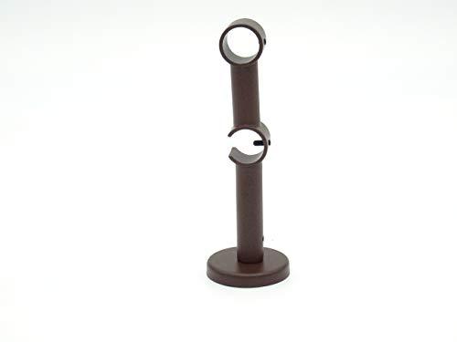 Soporte de doble tubo para barras de cortina con 20 mm de diámetro