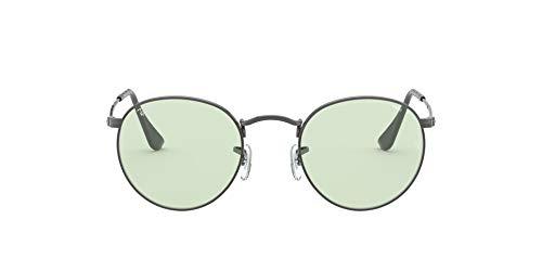 Ray-Ban Rb3447 Evolve Round Metal Sunglasses, Lunettes de Soleil Mixte, Ruthénium/Vert Clair, 50/21/145