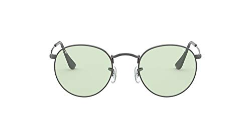 Ray-Ban Unisex Rb3447 Evolve Round Metal Sunglasses zonnebril, Ruthenium/Light Green, 50/21/145 EU