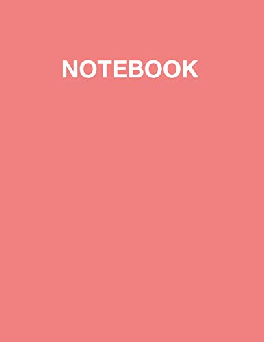 Notebook: Light Coral Soft Cover, Lined Pages, Large Composition Notebook / Book / Journal / Diary Gift, Letter Size (8.5 x 11 - 110 pages)