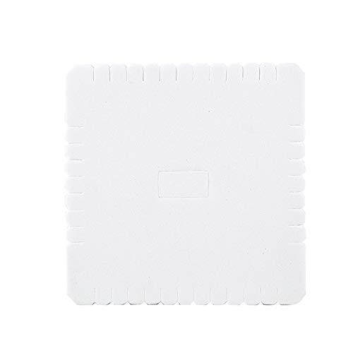 Rebordear Cordón Disco Placa de Trenzado Tablero Cuadrado Herramienta de Trenzado Blanco para Hecho a Mano para Pulsera(105mm)