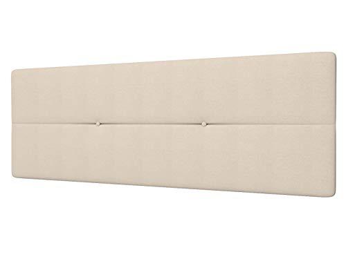 LA WEB DEL COLCHON - Cabecero Tapizado Génova para Cama de 135 (145 x 55 cms) Beige Claro Textil Suave   Cama Juvenil   Cama Matrimonio   Cabezal Cama   Cabeceros tapizados Dormitorio