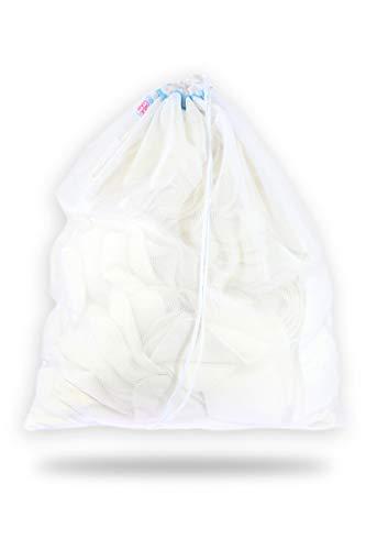 Petit Lulu Mesh Wäschesack 3 Größen | Robustes Netzmaterial | Kordelzugverschluss | Waschmaschine Waschbeutel für Stoffwindeln und Zubehör | Wiederverwendbar und Waschbar | Hergestellt in EU (Large)