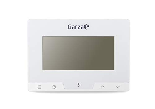 Garza 400616 Termostato Digital programable para Caldera y calefacción, Cronotermostato Controlador de Temperatura táctil, Blanco