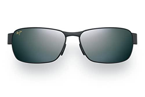 Maui Jim Black Coral w/ Patented PolarizedPlus2 Lenses Polarized Lifestyle Sunglasses, Matte Black/Neutral Grey Polarized, Medium