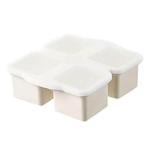 MILONT Große Eisschale, weiche Silikon-Eisschale, mit Deckel, Gefrierbox für Babynahrung,Eiswürfelform, Eiswürfelform Silikon Mit Deckelm, Eiswürfelschalen einfach Herauszunehmen