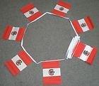 6 m 20 Drapeau Pérou avec blason Polyester fanions drapeaux
