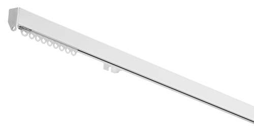 X-PROFILES Binario per Tende Arricciate - Installazione a soffitto e Parete - in Alluminio Dim. 15,5X22,5 mm. - Completo per l'Installazione (Bianco 140 CM)