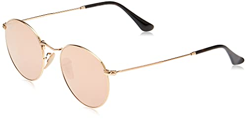 Ray-Ban Gafas de Sol ROUND METAL (50 mm), SHINY GOLD FRAME WITH COPPERFLASH LENS, 47/21/140