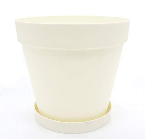 DARO DEKO Kunststoff Blumentopf 15L Creme-weiß 1 Stück