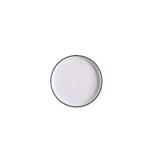 Mrjg Platos Placas de cerámica y Placas Blancas Forma Redonda Cena de Cena de 6/8/10 Pulgadas Placa de Filete de Porcelana (Plate Size : 6 Inch)