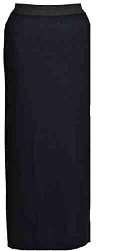Maxirock für Damen, Übergröße, Stretch, elastisch, lang, Gr. 34-54 Gr. 38-40, navy