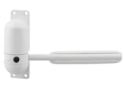 Soapow Cierre de puerta con resorte - Superficie ajustable para puerta automática con muelle para cierre automático (blanco)