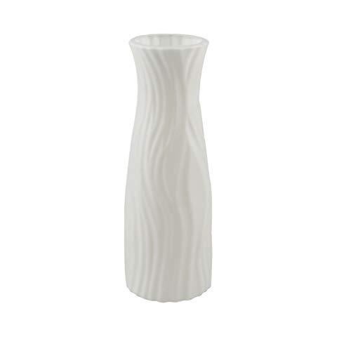 haoyuestory Origami Kunststoff Vasen, Imitation Keramik Container, Nordic Blumen Stil Pflanze Anordnung Flasche, Moderne Zuhause Blumenvase Dekoration