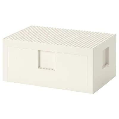 SD IKEA BYGGLEK Box mit Deckel, weiß, 26 x 18 x 12 cm