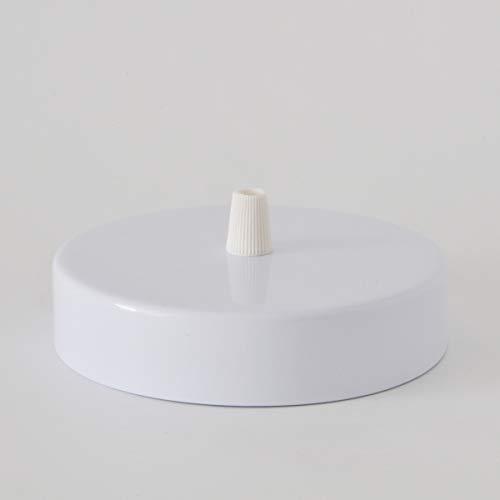 Baldachin   Abzweigdose   Verteilerdose zur Kabelabdeckung Ihrer Deckenlampe   Lampenkappe in Weiß 1 Loch Ø 12 cm inkl Zugentlastung   Lampenbaldachin für alle Lampen geeignet