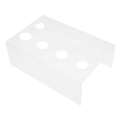 YARNOW Soporte para Cono de Helado 8 Agujeros Acrílico Transparente Sushi Soporte para Rollo de Mano Soporte para Exhibición Conos de Nieve Palomitas de Maíz Caramelo Papas Fritas
