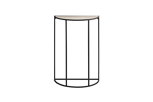 LIFA LIVING Tavolino a Muro nero, Tavolo Decorativo a Scomparsa, Legno e Metallo, Stile Moderno, per Salotto, Cucina, capacità 6 kg