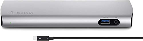 Belkin Thunderbolt 3 Dock w/ 2.6ft Thunderbolt 3 Cable (Thunderbolt Dock for MacBook Pro Models from 2016 or Later, Includes The 2018 Version), Dual 4K @60Hz, 40Gbps Data Transfer Speeds (Renewed)