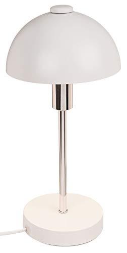 Schreibtischleuchte, Tischleuchte aus Metall, E14, ca. 32 cm (Weiß)