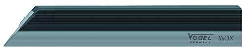 Vogel 310306 - Regla para el pelo (200 mm de longitud, acero inoxidable, con protección para el calor de las manos, procedimiento de separación de luz, medidor), color gris