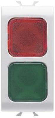 Gewiss chorus - Testigo de señalización doble rojo/verde blanco