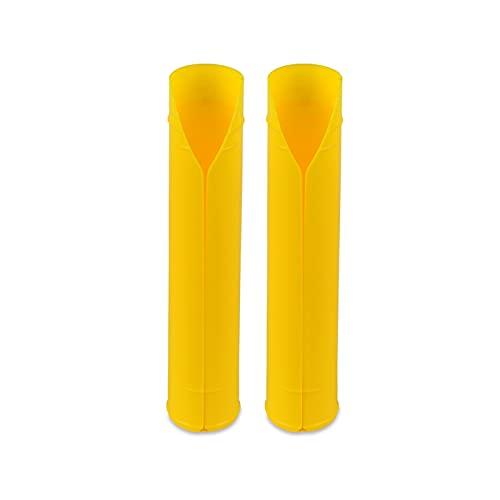 shiqi Protector de Guardias de Horquilla Superior Ajuste para Kawasaki KX KLX KXF 100 125 250 300 450 500 KLX140 KDX200 KDX50 KLR250 650 KLX110 KX250F KX450F (Color : Yellow)