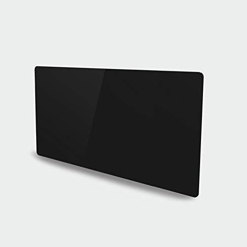 VOLTMAN VOM540036 - Radiateur à inertie sèche en Céramique - Facade en Verre Trempée - 1000 Watts - Ecran digital et Programmable - Noir