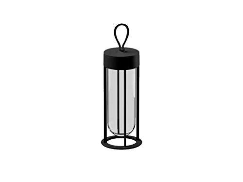 Flos In Vitro F018E21K030 - Lámpara de mesa y suelo (aluminio y cristal, 18 x 30 cm), color negro
