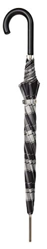 doppler Langschirm Carbonsteel Long Automatic Woven Check – Sehr stabil – schnelles Öffnen – Grau