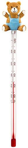 Lantelme Glas Babyflaschenthermometer Bär Analog Getränke Lebensmittel Thermometer Babyflasche Teeflasche 4392