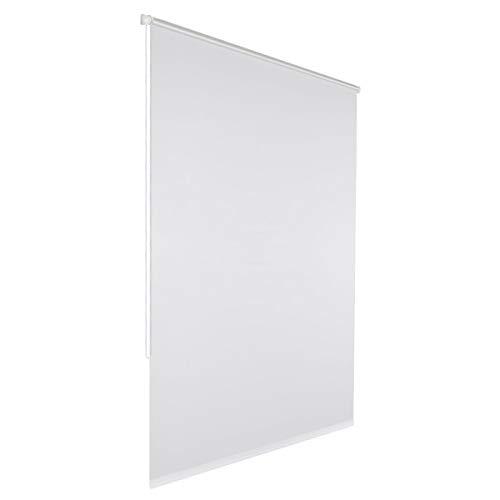 Klemmfix Verdunkelungsrollo für innen ohne Bohren :: Rollos für Fenster, blickdicht und lichtundurchlässig 50x150 cm weiß