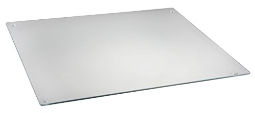 Glass Cutting Board by Clever Chef | Non Slip Cutting Board is Shatter-Resistant, Durable, Stain Resistant, Dishwasher Safe | Rectangle 15.75' x 20' (Clear)