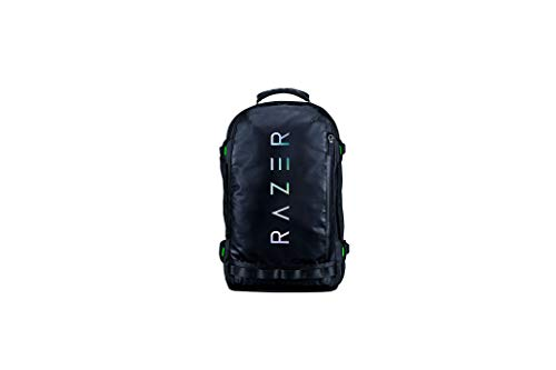 Razer Rogue v3 17.3' Gaming Laptop Backpack: Tear & Water Resistant Exterior - Mesh Side Pocket for Water Bottles - Dedicated Laptop Compartment - Made to Fit 17 inch Laptops - Chromatic Edition