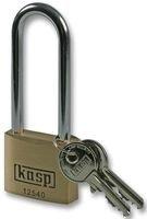 K12540L63-Vorhängeschloss, 40x63mm, Premium, Messing, langer Bügel für mehr Spiel für Vielseitigkeit