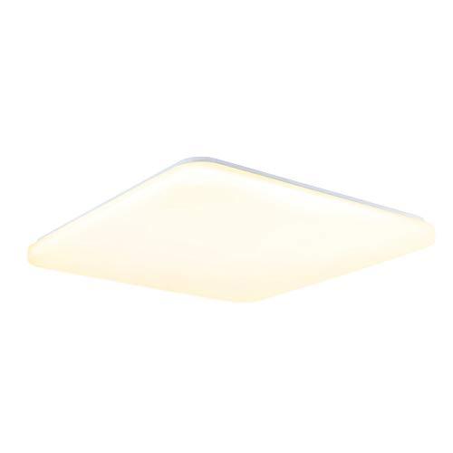 Fscm - Lámpara de techo LED, 24 W/36 W/48 W, moderna, para pasillo, salón, dormitorio, cocina, PVC, marco blanco, blanco fríoblanco cálido, IP44