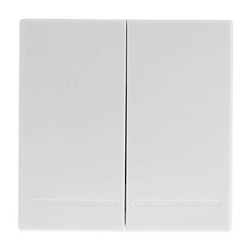 Domybest Bouton 1/2/3 Interrupteur Mural Interrupteur à Distance Émetteur Intelligent 433MHz RF Sans Fil Contrôle à Distance Commutateur de Chambre à Coucher pour Maison (2 Bouton)