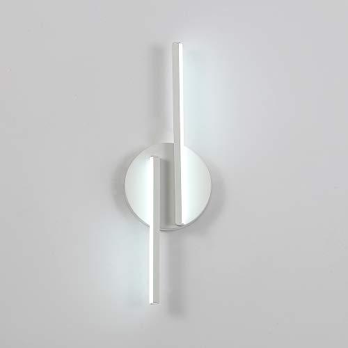 DAXGD Lampade da Parete a LED, 16W Moderne Applique da Parete per Soggiorno, Camera da Letto, Applique, Lampada da Comodino per Intern, 6000K (Luce Bianca Fredda)