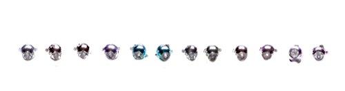 Lot de 6 accessoires pour cheveux en métal et chrome incrustés de strass (ZX275)