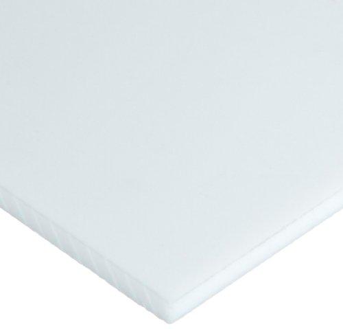 "PTFE (Polytetrafluoroethylene) Sheet, Opaque White, Standard Tolerance, AMS 3651, 0.06"" Thickness, 6"" Width, 6"" Length"