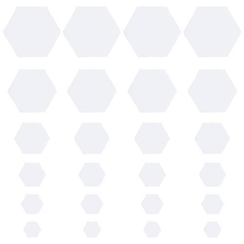CHGCRAFT 600 Stück 6 Größe Hexagon Papier Schablonen Patchwork Quilting Vorlagen DIY Handwerk Sewing Crafts - Weiß