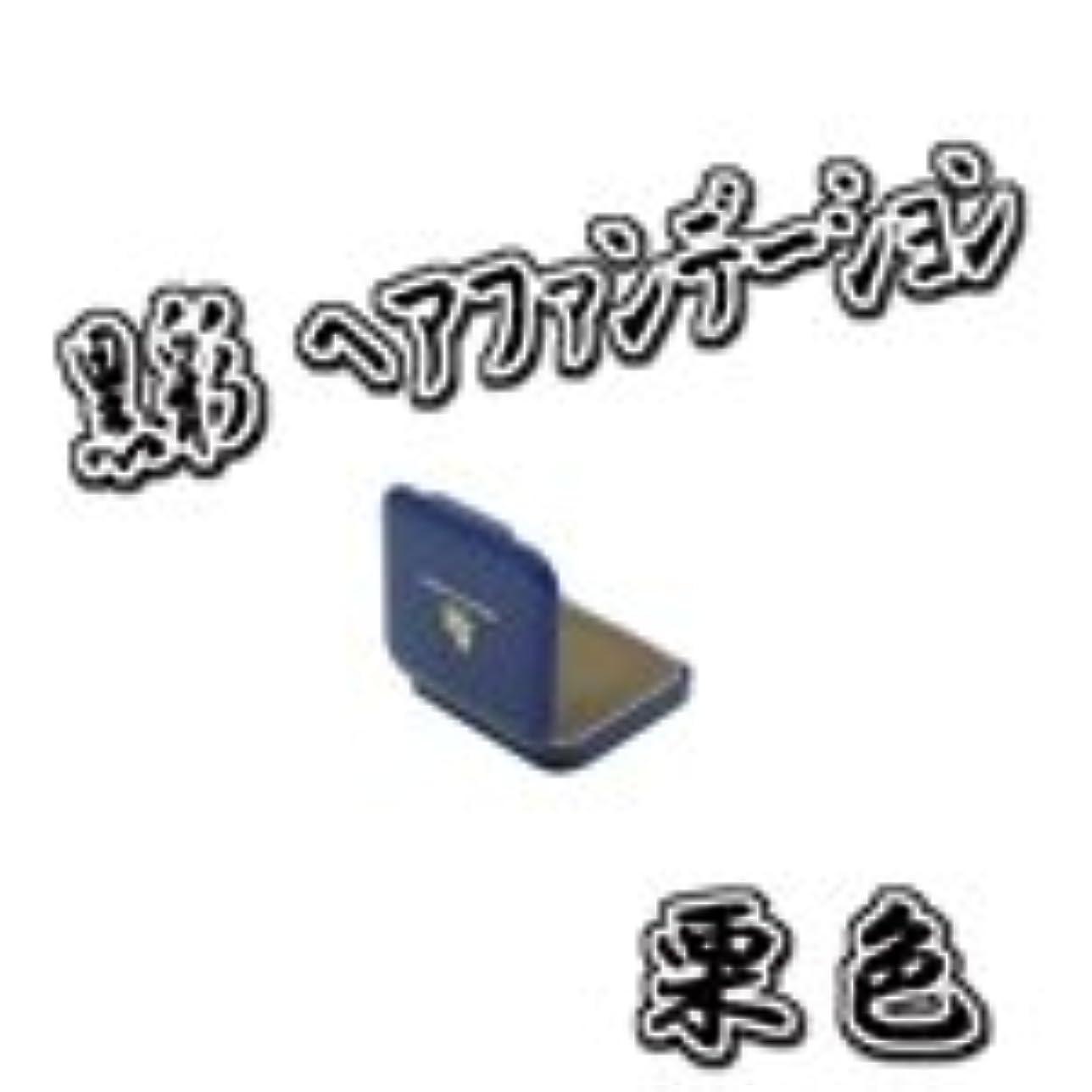 発見する狂人揮発性AMOROS アモロス 黒彩 ヘアファンデーション 【栗】 13g ミニケース パフ付
