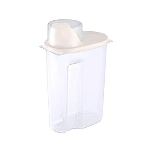 1.9/2.5L Distributore di cereali con cassetta di stoccaggio del coperchio Contenitore di riso for il contenitore di riso alimento barattoli sigillati for la tazza di frutta essiccata a grano da cucina