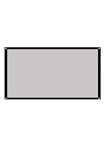 Proyector de películas Pantalla de proyección Trípode Pantalla de proyector 100 pulgadas Cortina de proyector 16:9/4:3 Soporte de fibra de vidrio gris mate para exterior interior aula