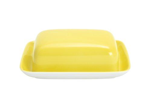 Kahla 202602A70412A Butterdose, eckig Pronto, zitronengelb
