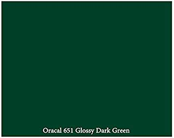 "12"" x 10 ft Roll of Glossy Oracal 651 Dark Green Adhesive-Backed Vinyl for Craft Cutters, Punches and Vinyl Sign Cutters by VinylXSticker"