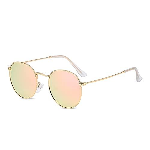 LumiSyne Retro Gafas De Sol Redondas Hombre Mujer Estilo Steampunk Lennon Polarizadas Lentes De Color Vintage Ronda Marco De Metal Círculo Espejo Gafas Protección UV400 Hippie Anteojos